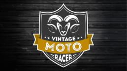 Logo Vintage Moto Racer - Garage moto sur Ecquedecques