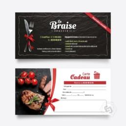 Restaurant La Braise Violaines Carte cadeau