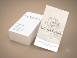 Carte de visite de luxe pour La Kefoise - Chambres d'hôte