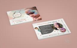Flyer recto verso maquillage pour enfants Mangoudi