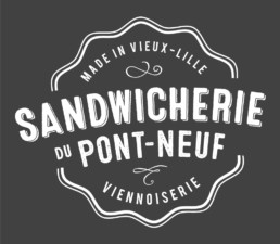 Logo vintage Sandwicherie du Pont Neuf - Lille 59