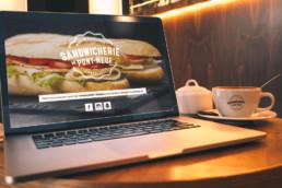 Site Sandwicherie OnePage avec accès administrateur