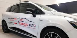 Marquage véhicule Clio Tranquil Auto