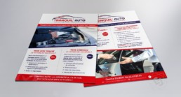 Flyer A5 recto verso Tranquil'Auto