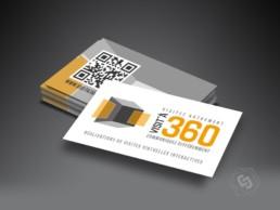 Carte de visite avec QRCode Visit'à 360