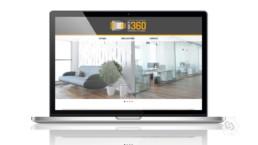 Site page d'accueil webdesign Visit'à 360