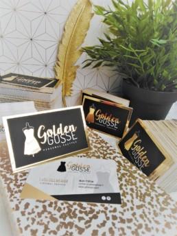Carte de visite dorure or - Golden Gosse