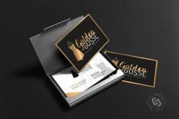 Carte de visite de luxe dorure à chaud or