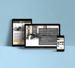 Site responsive avec accès administrateur Anjelou Design